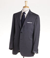 NWT $4495 SARTORIO NAPOLI by KITON Gray-Violet Stripe Fresco Wool Suit 40 R