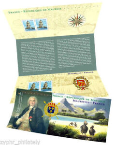"""France - Mauritius JOINT Issue """"SHIPS ~ 300th ANN. OF FRENCH LANDING"""" Stamp Pack"""
