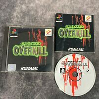 Project Overkill PS1 PlayStation 1 PAL Game Complete Konami Rare