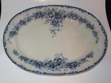 "Cauldon England BRETBY Flow Blue RN 280524 BWM Brown Westhead Moore 19"" Platter"