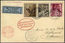 Zeppelin Liechtenstein 1930 suiza Basilea aeropuerto cable post si 95/136