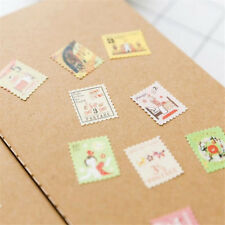 4 Sheets Folding Stamp Stickers Diary Notebook Scrapbook DIY Album Paper Decal