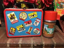 WOW!! Vtg.1962 Ohio Arts Traveler  Metal Lunchbox-Suitcase Style -Red & Blue