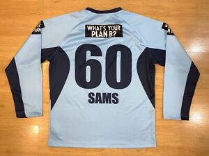 NSW BLUES CRICKET SAMS #60 ONFIELD PLAYER MATCH WORN SWEATSHIRT SHIRT JERSEY L