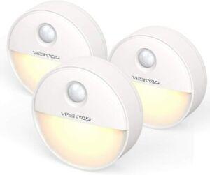 Luce Notturna Sensore di Movimento con magnetica (3 Pezzi), Luce Notte LED per A