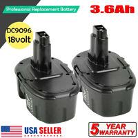 2x 18V XRP DC9096-2 Battery for DeWALT 18Volt DC9096 DW9095 DC9099 DE9095 DE9096