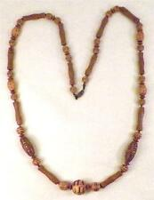 Vintage Tribal Ethnic Look Necklace Acrylic Goldtone Retro
