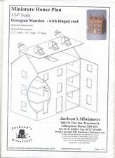 Half (1/24) Scale GEORGIAN MANSION DOLLHOUSE PLANS  front opening design  J01