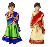 Kids Half Saree Traditional South Indian Wedding Festival Event dress
