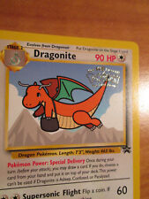PL Pokemon DRAGONITE Card BLACK STAR PROMO Set#5 Movie Release WB Stamped PLAYED