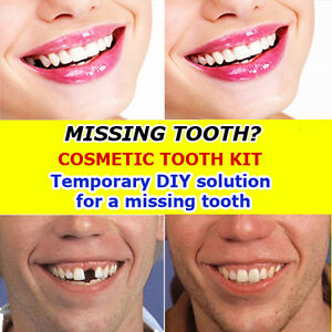 Temporary cosmetic false teeth missing tooth filler