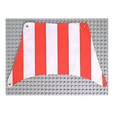 LEGO 6285 - White Cloth Sail Rectangle with Red Stripes
