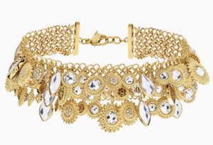 """SWAROVSKI """"NEMESIA NECKLACE""""MULTICOLORED GOLD PLATED & REVERSIBLE STATEMENT WOW!"""