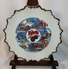 KNOTT'S BERRY FARM VINTAGE 1970 TRAVEL COLLECTOR PLATE AMUSEMENT PARK RIDES