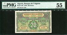 Algeria 1948, 20 Francs, H211-510, P103, Pmg 55 Original Unc