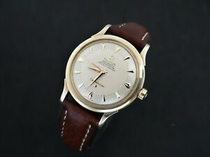 VINTAGE OMEGA CONSTELLATION TWO TONE DIAL 14K SOLID GOLD AUTOMATIC BUMPER 354