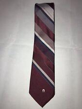 Vintage Etienne Aigner Multicolor Diagonal Striped Men's Classic Neck Tie