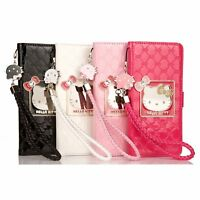 Cute Hello Kitty Handbag Leather Wallet Flip Case Cover for Samsung S10+ Note 9