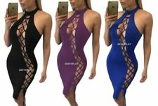 Polyester All Seasons Lace Up Dresses for Women