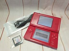 Red Nintendo DS Lite With 1 Game & Charging Cable