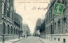 Carte LEVALLOIS PERRET Rue Gide L'Ecole Maternelle Enseigne Labo Dr Evans