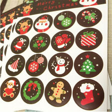 Lots 10 Sheets Merry Christmas Badge Sticker Envelope Seal Wrapping Stickers