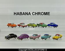 SERIE COMPLETE DE FEVES HABANA CHROME -VOITURES AMERICAINES-CUBA