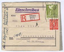 All.Bes./Gemeinsch.Ausg.Mi. 959,917, R-Päckchen-Adresse Eßlingen/Neckar