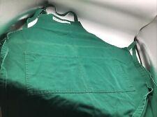 WILLIAMS-SONOMA Apron Green Cotton Denim Divided Pocket One Size Xmas USA Made