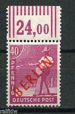 Berlin 40 Pfg. Rotaufdruck 1949** Walzendruck Michel 29 W OR geprüft (S8188)