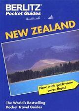 NEW ZEALAND TRAVEL GUIDE PAPERBACK BOOK BERLITZ POCKET GUIDE