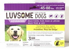 Luvsome Dogs Advanced Flea & Tick Applicators 45-88. 1G48