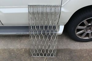 Large Antique Industrial Grate Vent Heavy Iron Metal Industrial Architecture