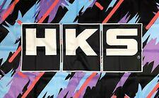 HKS Logo Flag 3x5 ft Banner Japanese Aftermarked Car Parts Man-Cave Garage