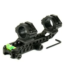 One Piece Scope Mount Ring with Angle Indicator and Bubble Level for Long Aiming