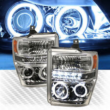 For CCFL Halo LED 08-10 F250 F350 F450 Super Duty Pro Headlights Head Lights