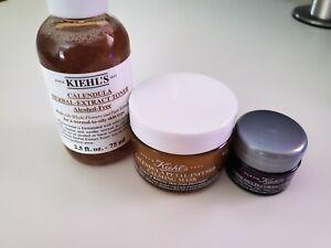 Kiehls Calendula Toner + Calming Mask + Corrective Cream Bundle