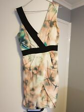 copper st dress silk dress, size 8