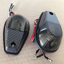 Flush Mount Motorcycle Turn Signals Blinker Light For Universal Sportbikes Smoke