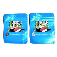 10X BLUE ZUSHI Cali Baggie 3.5g Mylar Pack Certi Hologram SMELL PROOF/HEAT SEAL