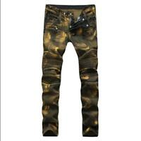 Details about Men's Flower Hip Hop Printed Floral Harlan Slim Fit Casual Trousers Pants