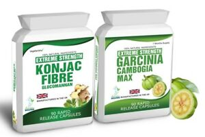 90 Garcinia Cambogia HCA 90 Glucomannan Konjac Fibre Clean Diet Weight Loss Tips