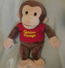 PLUSH CURIOUS GEORGE Brown MONKEY BEANBAG GUND 11""