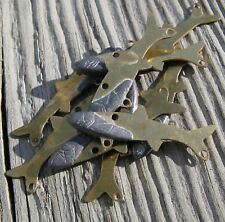 Brass Forage Blade Minnows DIY Tackle - Lot of 25 Small Size Unpainted