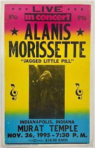 Vintage 1995 Alanis Morissette Jagged Little Pill Live Concert Cardboard Poster