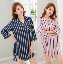 Women Silk Satin Pajamas Sleepwear Nightgown Robe Loungewear Homewear Comfort