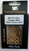 "MFC Pro Pack  Fly Tying  "" TUNGSTEN ""  Bead 3.8 mm 100 pcs- Gold"