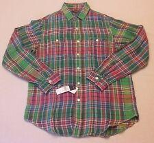 NWT $125 Mens Polo Ralph Lauren Long Sleeve Multi-Color Buttondown Linen Shirt M