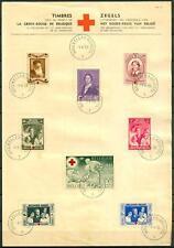 BELGIUM - BELGIO - 1939 - 75° anniversario della Croce Rossa su carta intestata