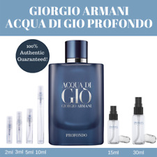 Acqua Di GIo Profondo NEW (2020) Sample Decant 2ml 3ml 5ml 10ml 15ml 30ml Spray